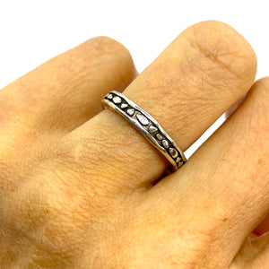 Sunshine Oxidised Band Ring