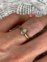 Load image into Gallery viewer, 18ct Gold Pear Cut Diamond Solitaire Engagement Ring 0.51ct