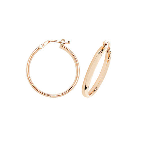 9ct Gold Classic 20mm Hoop Earrings