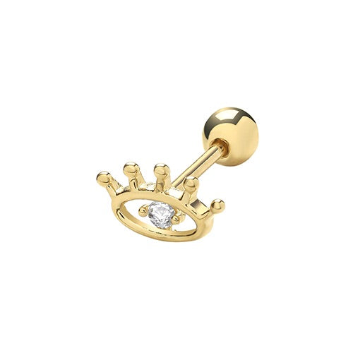 Ear Candy 9ct Gold CZ Eye Cartilage Stud