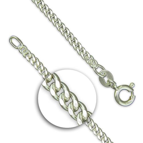 Silver Light Diamond Cut Curb Chain