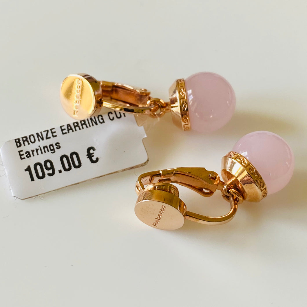 REBECCA Hollywood Pink Clip On Earrings