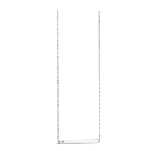 SUNSHINE Bar Necklace - Silver