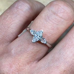 18ct White Gold Charlotte Marquis Engagement Ring