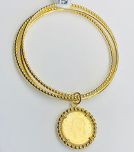 Load image into Gallery viewer, Sunshine Kinetic Bangle with Medallion - Gold