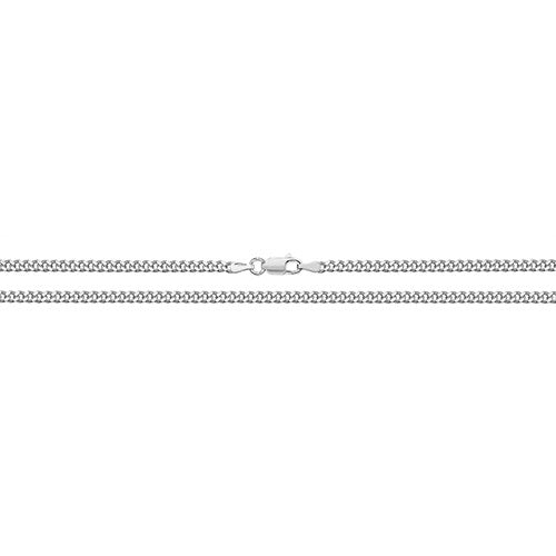 Silver Diamond Cut Close Curb Link Chain
