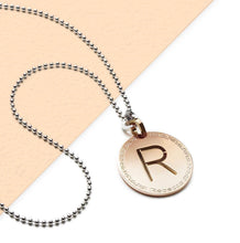 Load image into Gallery viewer, REBECCA MyWorld Letter Necklace - Rose|Medium Initial