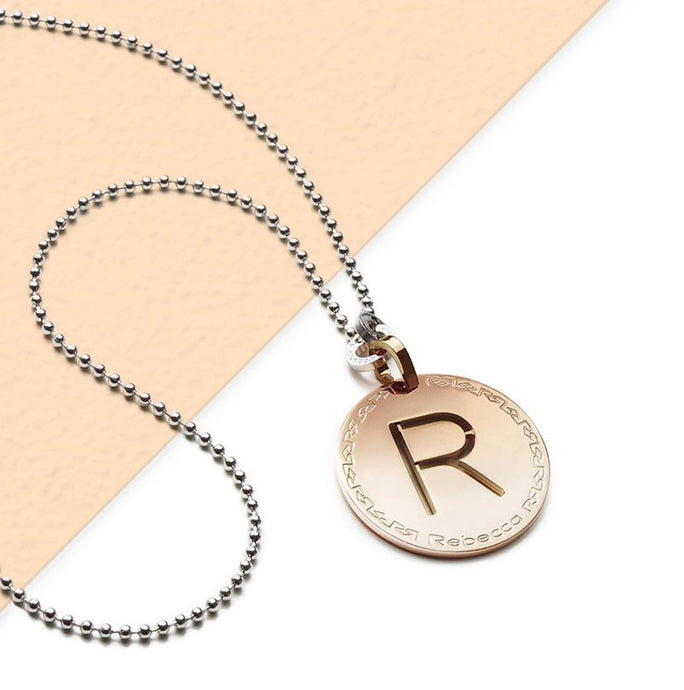 REBECCA Rose Letter Medium Sized Pendant and Chain