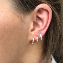 Ear Candy GP Three Bullet CZ Huggie Earring