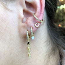 Ear Candy GP Opalique Bullet CZ Huggie Earring