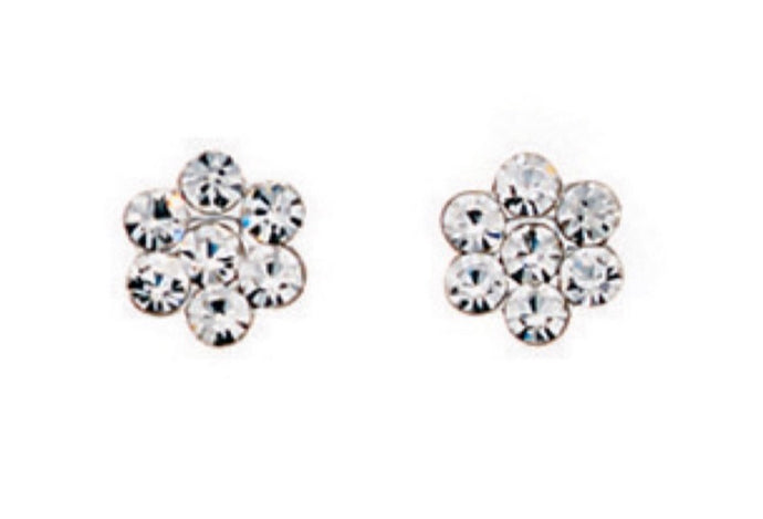 Ear Candy Crystal Blossom Stud Earrings