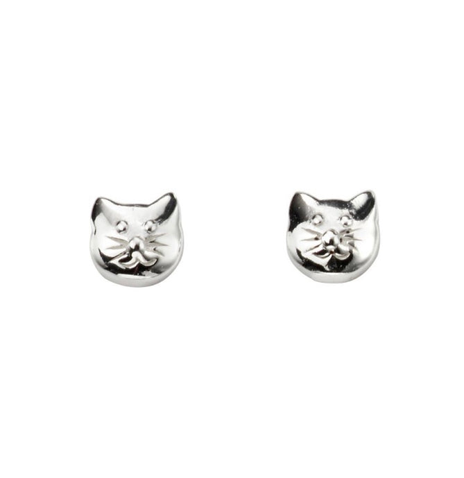 Ear Candy Cat Face Stud Earrings