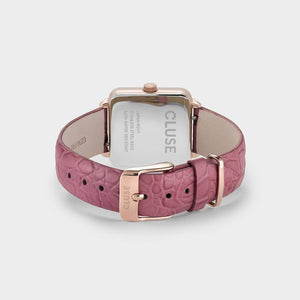 CLUSE La Tétragone Rose Gold White/Soft Berry Alligator