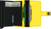 Load image into Gallery viewer, SECRID Miniwallet Matte Black & Yellow