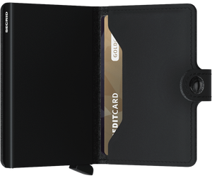 SECRID Miniwallet Vegan Black