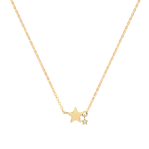 9ct Gold Star Necklace
