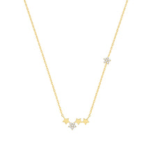 Load image into Gallery viewer, 9ct Gold Star Cluster Necklace