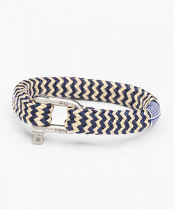 PIG & HEN Bombay Barry Navy - Sand | Silver