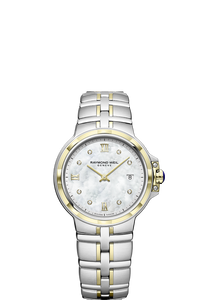 Raymond Weil Lady  PARSIFAL 30mm Steel & Yellow, 8 diamonds