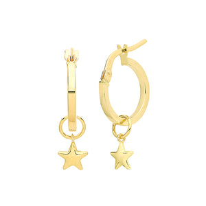 Ear Candy 9ct Gold Star Earring Charm