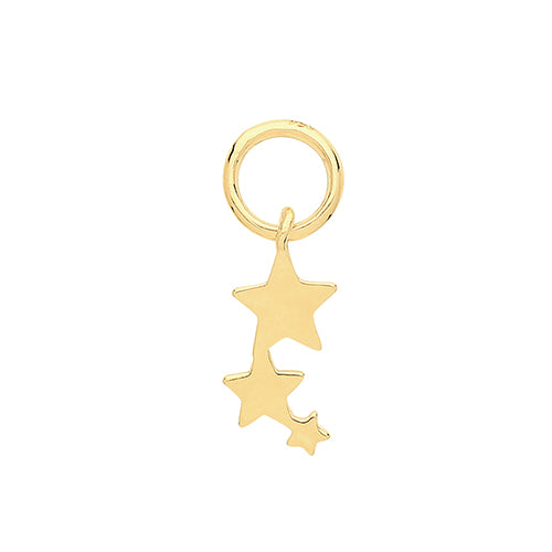 Ear Candy 9ct Gold Three Star Earring Charm