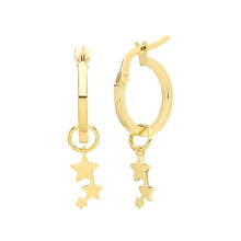 Load image into Gallery viewer, Ear Candy 9ct Gold Three Star Earring Charm