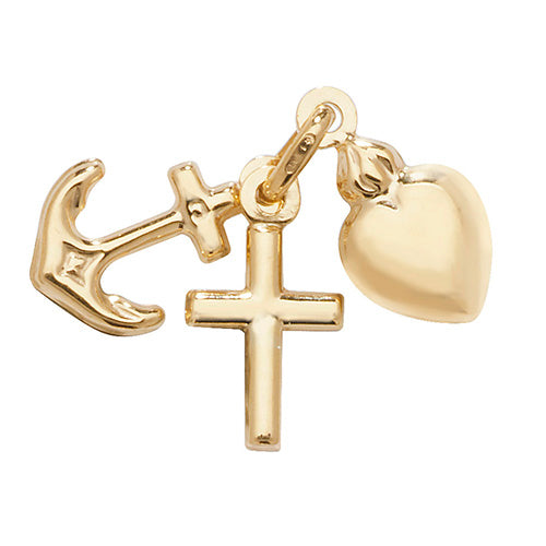 9ct Gold Faith Hope And Charity Charm