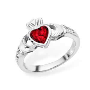 Birthstone Claddagh Ring