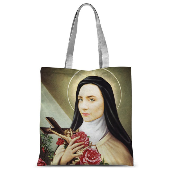 St Saoirse of the Bronx New Irish Icons Sublimation Tote Bag
