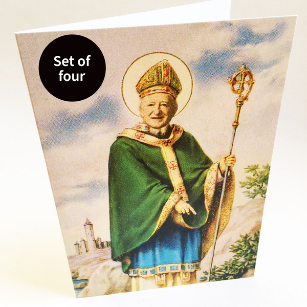 St Micheal D of the Áras — set of four cards — A6 greeting card