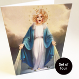 St Panti of Capel Street — set of four — A6 greeting cards
