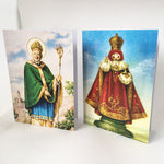 MIXED SET OF FOUR — St Bosco, St Mary, St Panti and St Michael D — A6 greeting cards