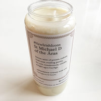 St Michael D of the Áras New Irish Icons candle