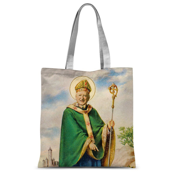 St Michael D of the Áras New Irish Icons Sublimation Tote Bag