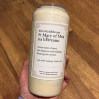 St Mary of Mná na hÉireann New Irish Icons candle