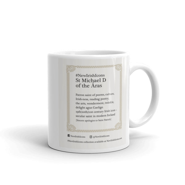 St Michael D of the Áras New Irish Icons Mug
