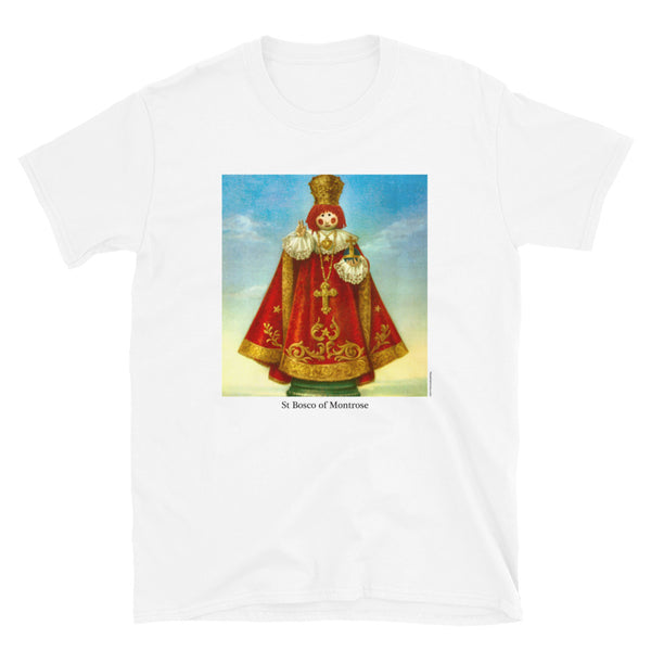 St Bosco of Montrose on a short-sleeve unisex t-shirt