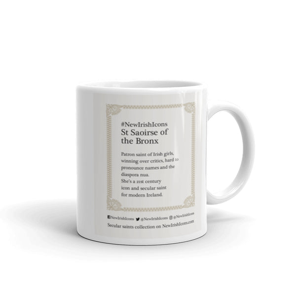 St Saoirse of the Bronx New Irish Icons mug