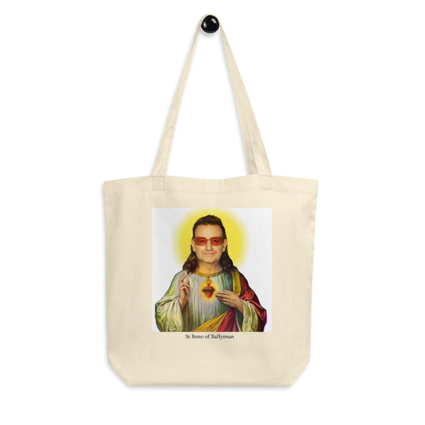 St Bono of Ballymun on a tote bag