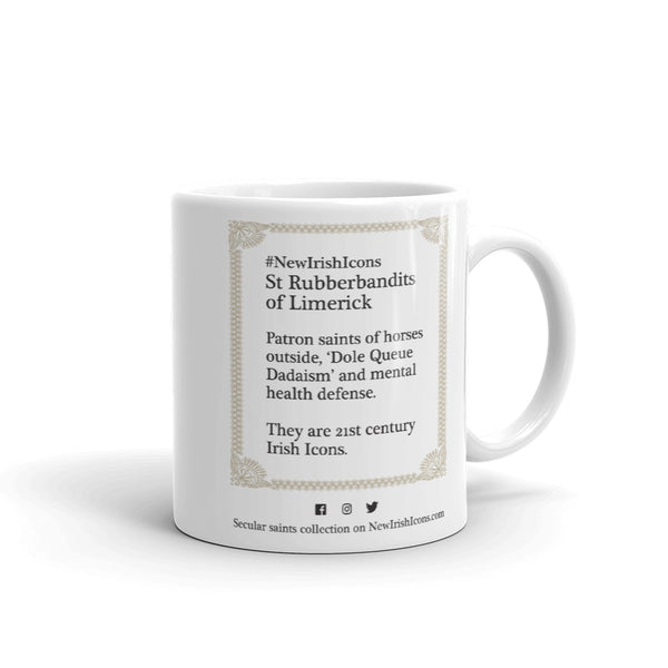 St Rubberbandits of Limerick New Irish Icons Mug