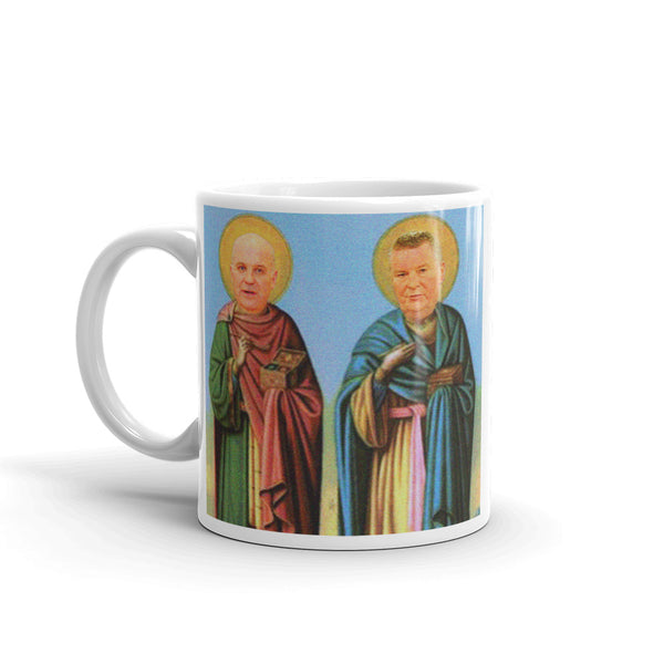 St Dr Tony and St Dr Mike of Éire New Irish Icons Mug