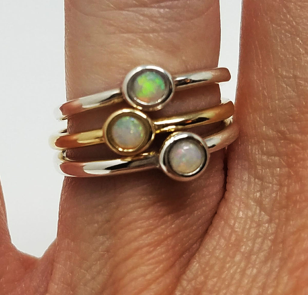 Gold Opal Stack Ring