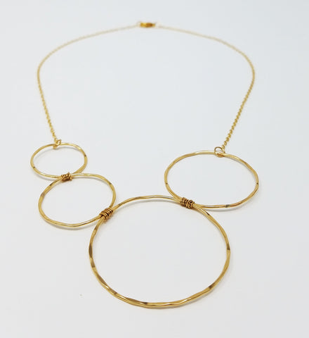 The Phaedra Vita Necklace - Four Circles Statement Necklace