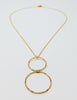 The Zoe Necklace - Two Circle Pendant