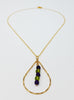 The Shenandoah Necklace I - Amethyst & Peridot Teardrop Necklace
