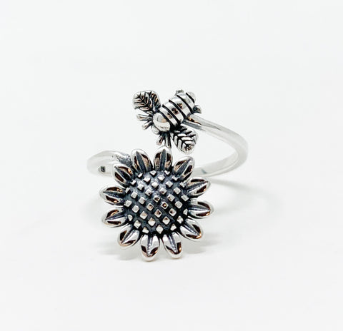 Sunflower & Bee Ring