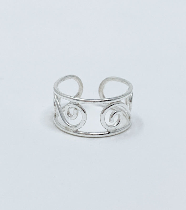Swirl Design Toe Ring