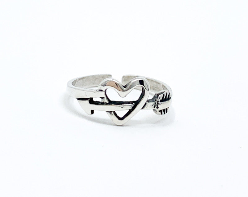 Heart & Arrow Toe Ring