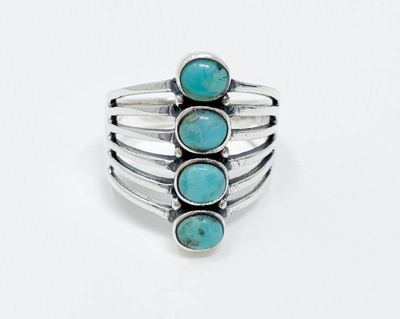 4-Stack Turquoise Ring