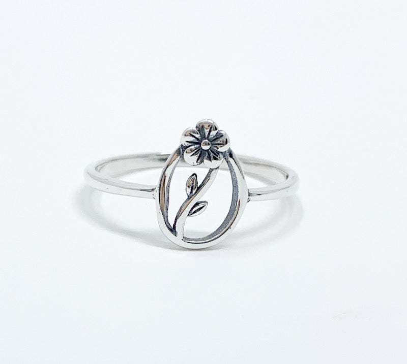 Encircled Flower Ring